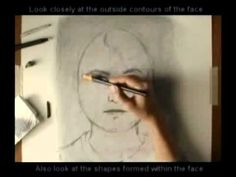 Portrait Drawing Tutorial, great tutorial about spacing and placing features!