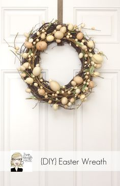Fabulous Easter Wreath -- so incredibly easy too!