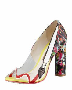 Party+Like+Pollock+Pump+by+Sophia+Webster+at+Bergdorf+Goodman.