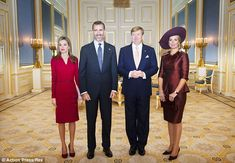 Beginning: The Spanish royal couple are now at the start of a brief tour of the Netherlands