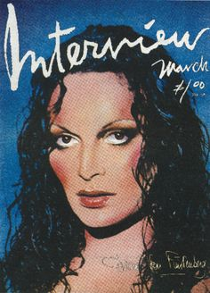 1977: Diane on the cover of Interview Magazine