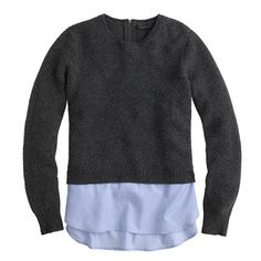 Lambswool shirttail sweater in blue