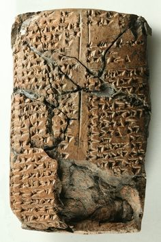 An unknown language found stamped in ancient clay tablet