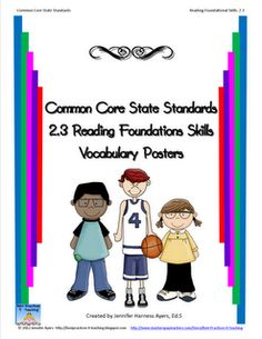 Common Core Vocabulary Posters