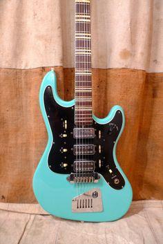 Hofner Galaxie 1960s Turquoise