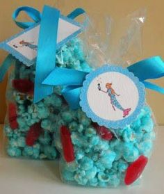party favors, birthday, treat bags, blue, white chocolate, chocolate candies, sea theme, parti, under sea