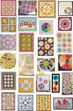 Free pattern day ! Dresden Plate quilts.  More than 25 patterns & tutorials, updated October 23, 2014 at Quilt Inspiration
