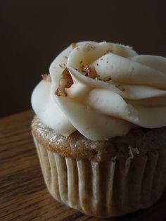 These sound wonderful - Roasted Banana Cupcakes with Cream Cheese, Coffee and Rum Frosting!