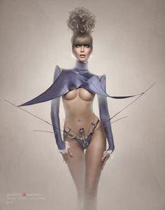 Scalloped Saddlebags - 'Future Passion' Showcases Futuristic Katarzyna Jarczykowska Couture (GALLERY)