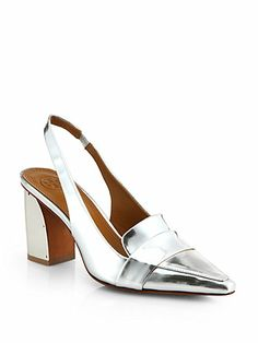 Shop now: Sadie Metallic Slingback Pumps