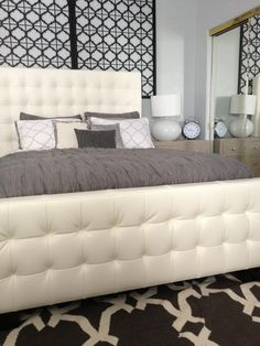 Stephanie Burk shares her chic and modern bedroom with #ZGallerie's West Street Bed.