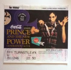 Prince ticket via @Paper Acrobat