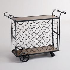 wine bottle bar cart