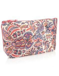 Camilla Print Silk Cosmetic Bag | Pink | Monsoon
