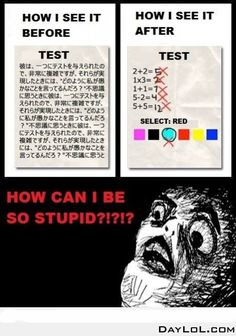 Before and after a test