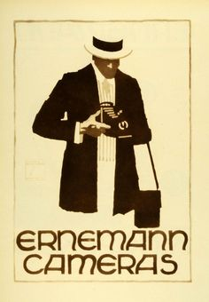 Ernemann Camera Advertisement. Artist Ludwig Hohlwein