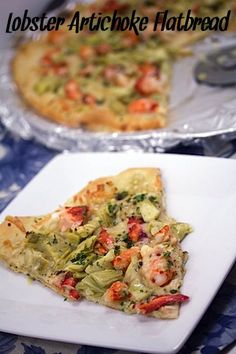 Lobster Artichoke Flatbread from Wearenotmartha.com