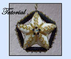 Midnight Star Ornament Pattern by Paula Adams AKA Visions by Paula at Bead-Patterns.com