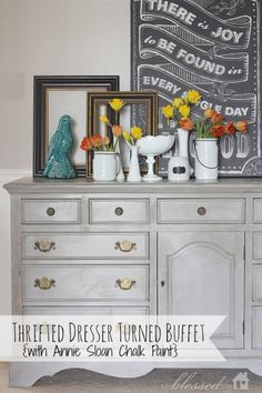 Thrifted Dresser Turned Buffet with Annie Sloan Chalk Paint!