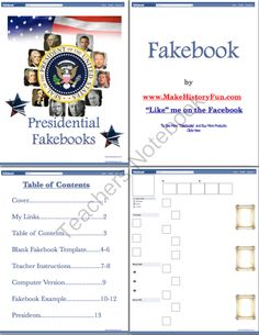 Abraham Lincoln's Fakebook Fan Giveaway! Enter for your chance to win.  President Abraham Lincoln Fakebook Page (13 pages) from Make History Fun Store on TeachersNotebook.com (Ends on on 10-20-2014)  Win a chance for your students to become the voice of Abraham Lincoln with this lesson! Your students will read, research, and write about one of the United State's greatest leaders. Abraham Lincoln was a great story teller but now it's your students turn to tell the story.