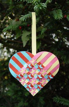 Woven Paper Heart
