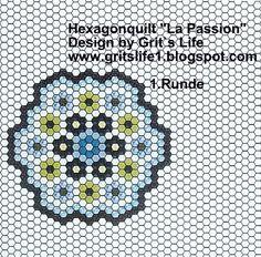 Grit's Life: 1. Teil Hexagonquilt La Passion