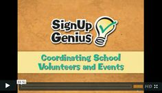 Coordinating School Volunteers & Events: Webinar // Learn how SignUpGenius can help parents, teachers and administrators. Organize parent teacher conferences, coordinate and collect money for fundraisers, plan class parties and so much more! @SignUpGenius #PintoWin and #FallIntoEASY