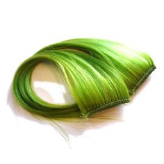 Lime Green ClipIn Hair Extensions by IKickShins on Etsy, $10.00
