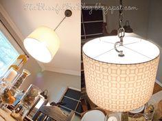 DIY Hanging {Drum} Light Fixture | The Blissful Bee