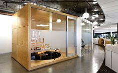 Isis Australian Offices. I love these 'boxes'. What a great idea for meeting rooms. On wishlist.