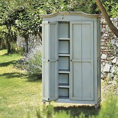 Josephina Armoire. Casa Florentina collection. Available in other colors but I like this soft blue