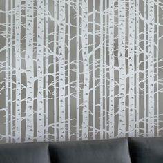 Cutting Edge Stencils - Birch Forest Allover Stencil