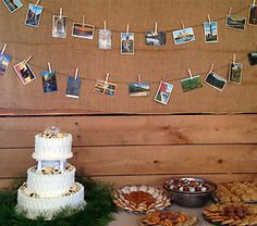 For a trip down the happy couple's memory lane, put photos of their good times together on display at the wedding reception. You can print the photos at Kodak Picture Kiosk. #wedding #photography #ideas #diy #craft