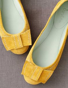 suede bow flats