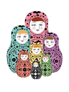 Russian Doll Print