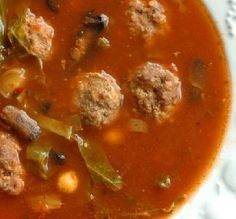 """Meatball Soup: """"This is a very hearty soup with a great flavor from the meatballs and spinach."""" —Sue Lau"""