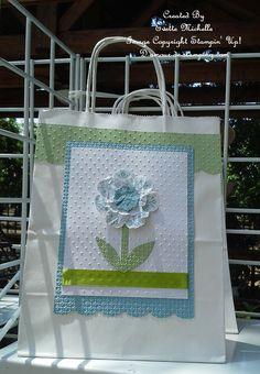 Daydream Medallion Flower Gift Bag gift bags, flower gift