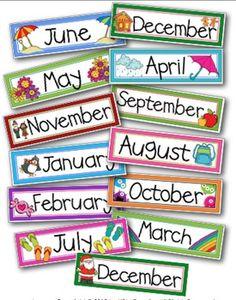 FREE Through the Year Calendar Headers