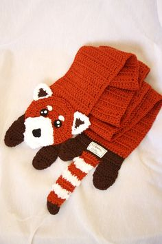 """Red Panda Scarf!! People would be like """"Oh look, your fox scarf is so cute!"""" and I'd be like """"Fool.  This is a red panda scarf.  Get it right."""""""