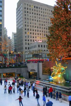 Ice Skate at Rockefeller Center Around the Holidays