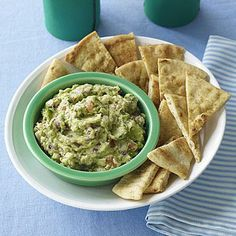 Super Bowl party recipes: Guacamole with Cumin Chips