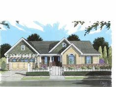 Delightful, Open Plan Offers Functional Spaces (HWBDO68497) | Cottage House Plan from BuilderHousePlans.com