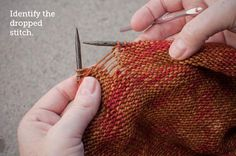 Fix-It Friday: Dropped Stitches Step 1
