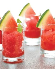 Watermelon Sorbet ( Healthy Diabetic Recipe ) | Drinks recipes | Delicious Diabetic recipes | Health | http://Tarladalal.com