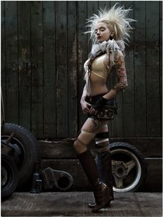Gorgeous post-apocalyptic dieselpunk