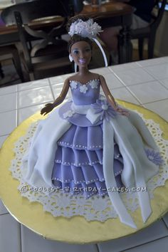 Coolest Princess Barbie Cake... This website is the Pinterest of birthday cake ideas