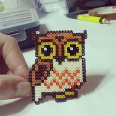 Little owl hama mini beads by olaibombai