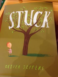 Great book for predicting and inferring! #Stuck by Oliver Jeffers