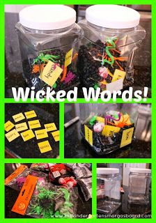 Wicked Words Halloween themed word work center!