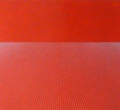 Sara Eichner-'half light blue grid over red'-Sears-Peyton Gallery